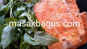 oncom dan daun kemangi