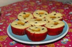 cupcake with pineapple filling
