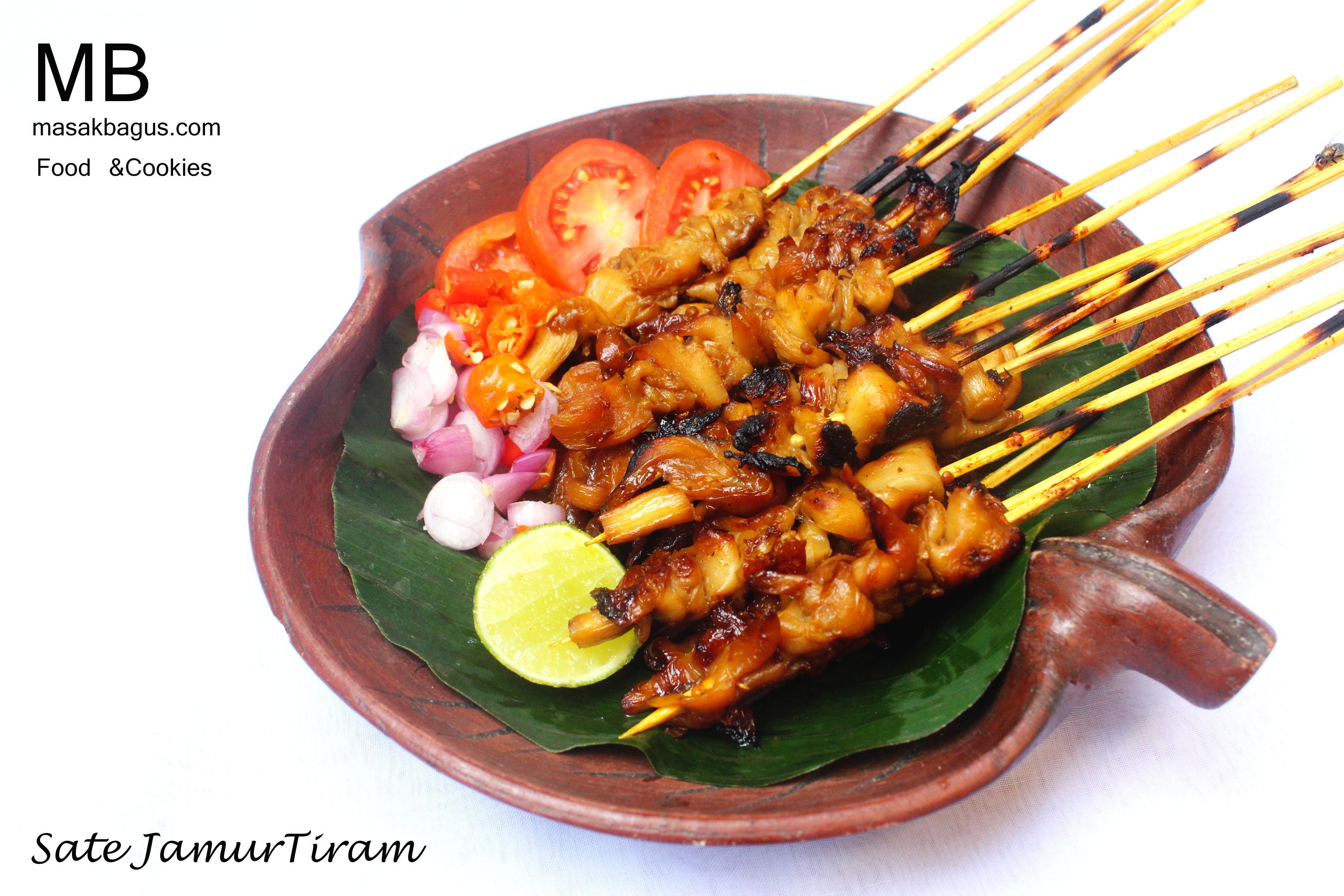 Resep enak Sate Jamur Tiram - MasakBagus.Com
