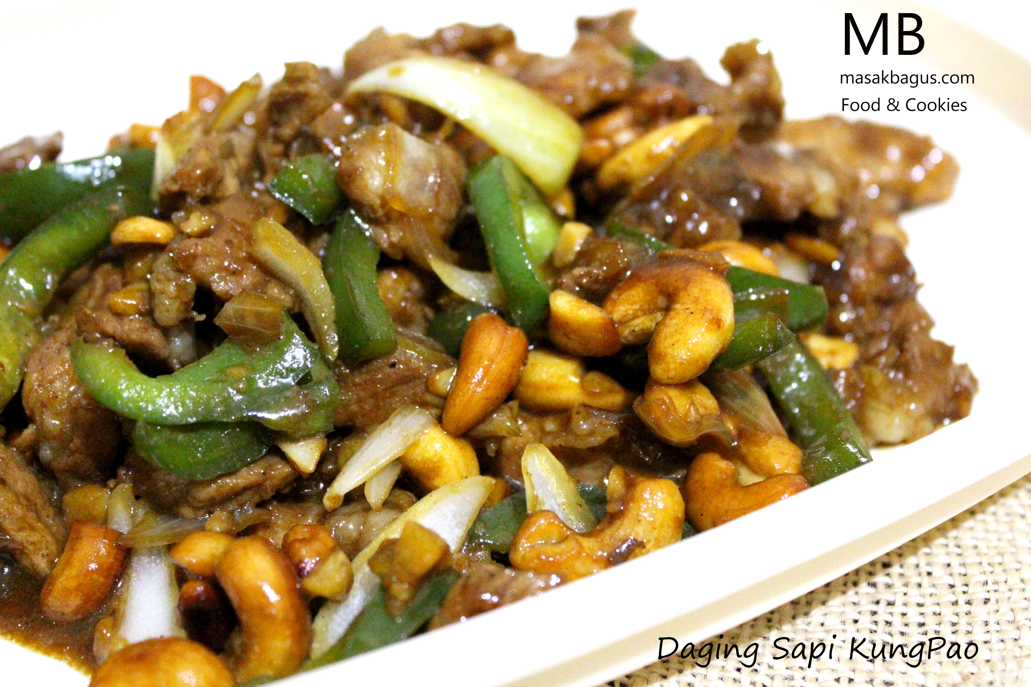daging sapi kungpao
