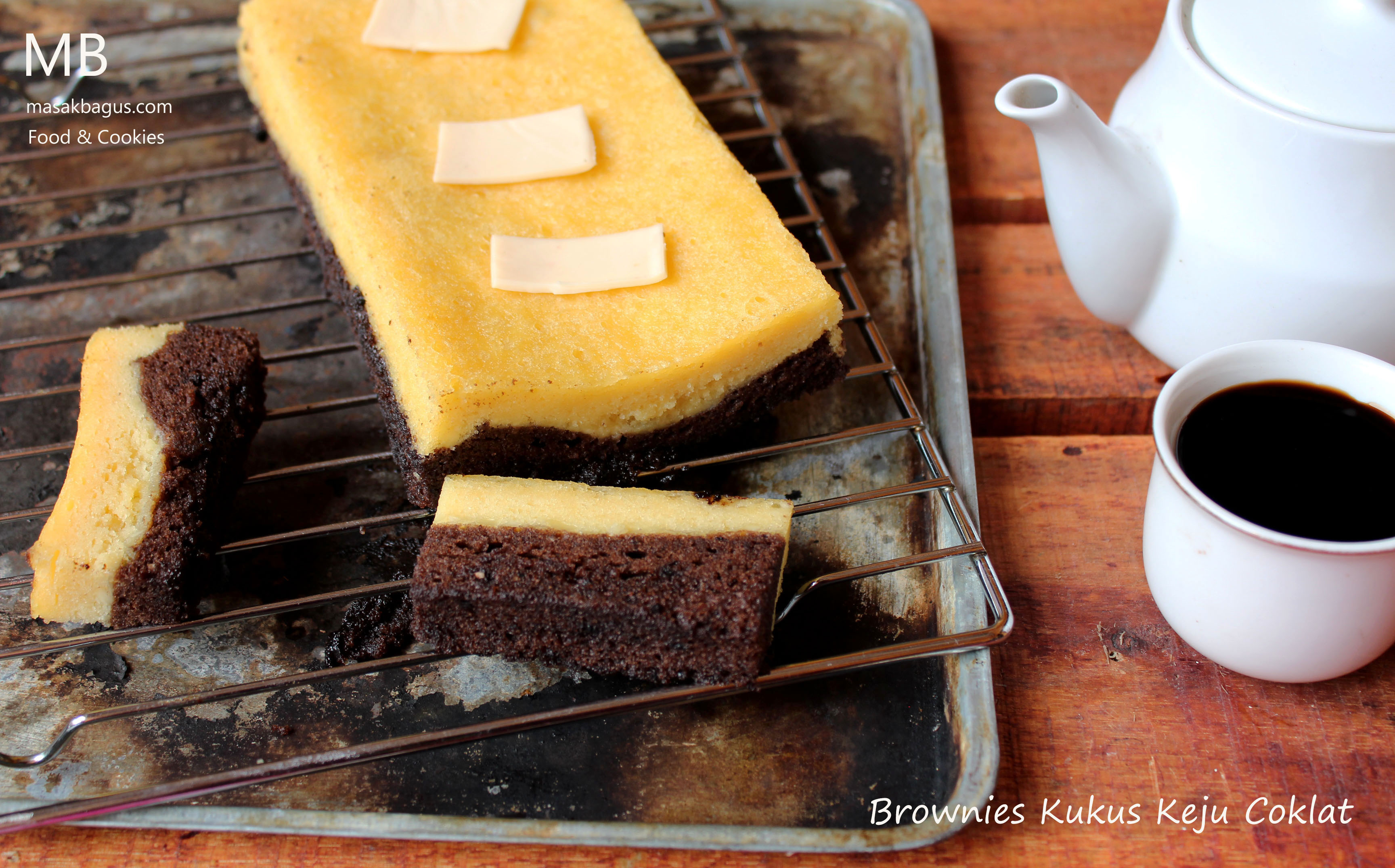 brownies kukus Keju coklat