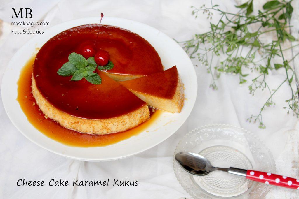 cheese cake karamel kukus