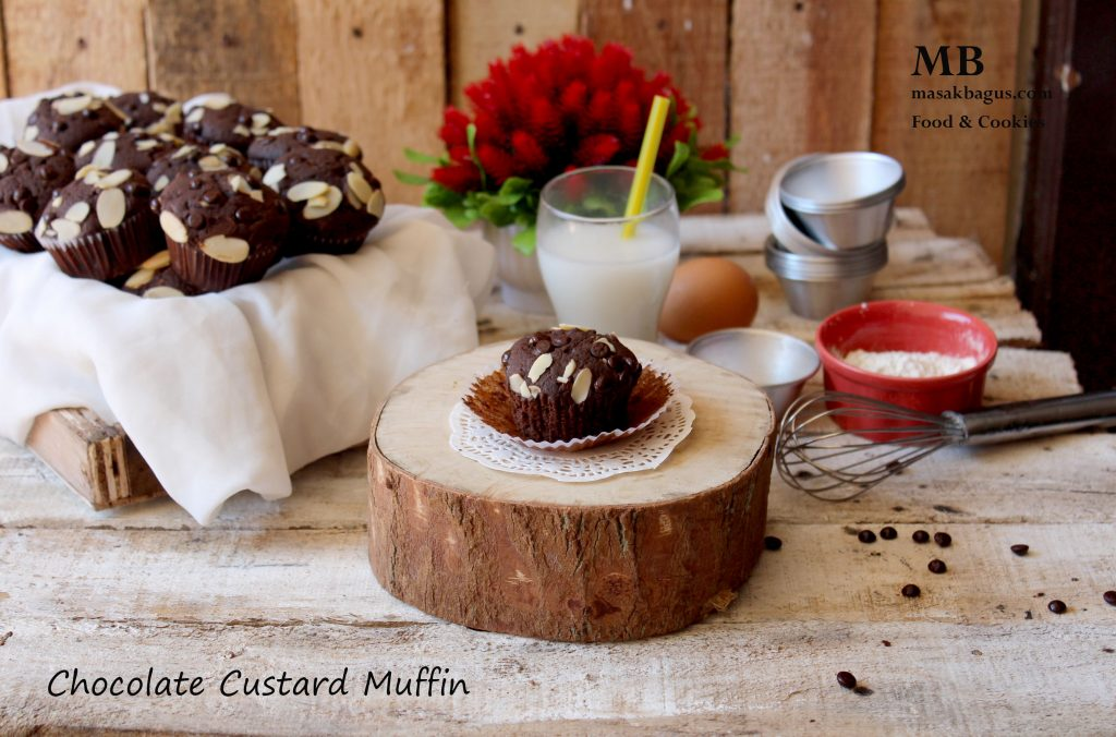 chocolate custard muffin